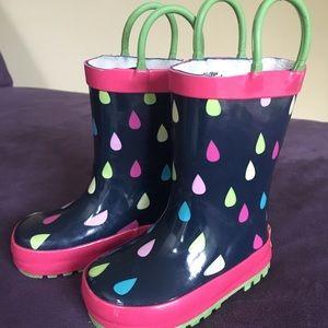 Toddler girl's rain boots